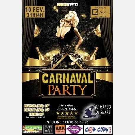 CARNAVAL PARTY   GOLD & BLACK