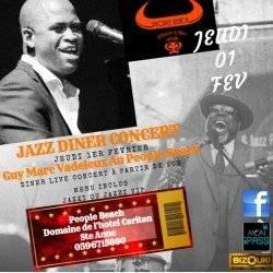 Guy Marc Vadeleux, Jazz Diner concert  VIP