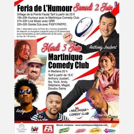 Martinique Comedy Club JUIN 2018