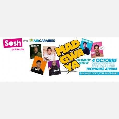 MADGWAYA COMEDY SHOW (Tournée octobre)