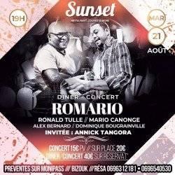 Mardi SUNSET : ROMARIO : MARIO CANONGE & RONALD TULLE