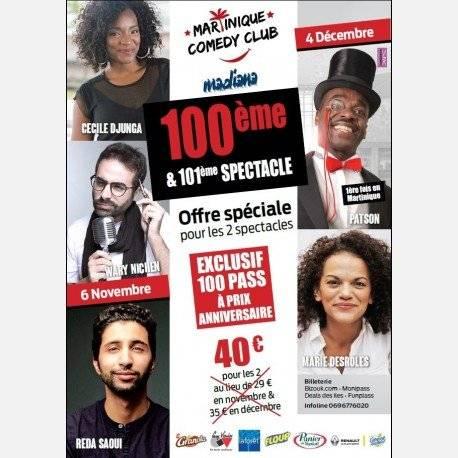 Martinique Comedy Club NOVEMBRE & DECEMBRE 2018