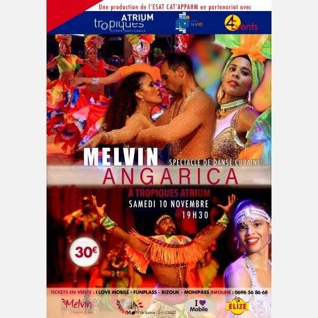 MELVIN ANGARICA A TROPIQUES ATRIUM spectacle de danse cubaine !!