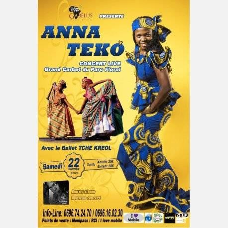 ANNA TEKO EN CONCERT LIVE AU GRAND CARBET séance de 20h