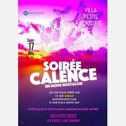 La Soirée Calence Du Samedi 17 Novembre à La Villa Petite Cocotte
