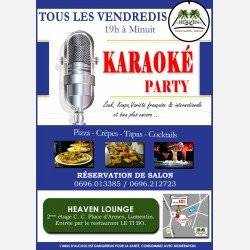Les Vendredis KARAOKE Party au HEAVEN LOUNGE