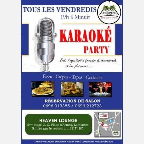 Les Vendredis KARAOKE Party au HEAVEN LOUNGE