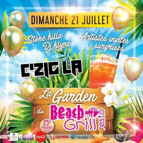 La garden du Beach Grill avec C'ZIGLA